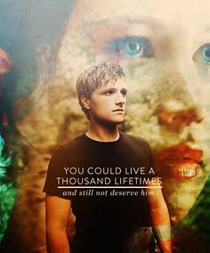When Haymitch says this, my heart broke in half. Especially in the books- Peeta live for Katniss. UGH, the humanity!