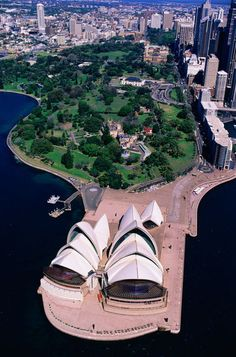 aerial view of Sydney Opera House and harbour in NSW, Australia (Christopher Groenhout) Sidney Australia, Western Australia, Australia Travel, Places Around The World, Around The Worlds, Places To Travel, Places To Go, Sydney Photography, Beautiful Places To Visit