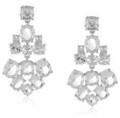Kate Spade New York Clear and Silver Chandelier Earrings
