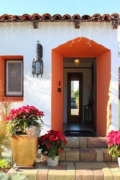 Could paint the underside of the covered walkway and inside of the back door frame in a popping color