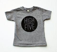 High Five- kid's hand printed t-shirt