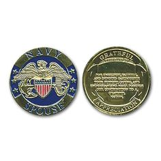 Navy Spouse Challenge Coin.