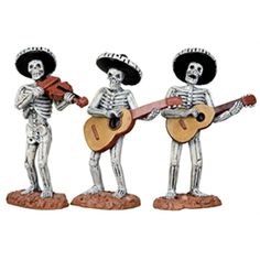 Lemax 12884 Skeleton Mariachi Band Spooky Town Figure Set of 3 Halloween for sale online Halloween Scene, Halloween Village, Halloween Items, Halloween Skeletons, Holidays Halloween, Halloween Decorations, Halloween Train, Halloween Halloween, Christmas Decorations