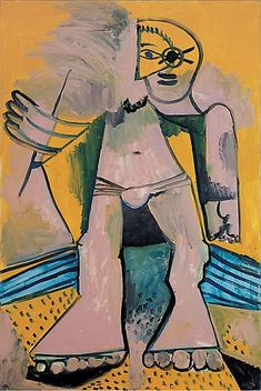 Pablo Picasso, Personnage, August 1971 Oil on canvas, 76 ¾ × 51 ¼ inches × 130 cm)© 2018 Estate of Pablo Picasso/Artist Rights Society (ARS), New York Kunst Picasso, Pablo Picasso Drawings, Art Picasso, Picasso Paintings, Henri Matisse, Henri Rousseau, Georges Braque, Pablo Picasso Zeichnungen, Paul Gauguin
