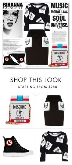 """""""Rihanna Music Concert"""" by mood-chic ❤ liked on Polyvore featuring Moschino, Balmain and Rihanna"""