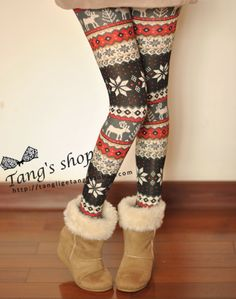Candy Nordic Moose Snowflake Sleep Pants Knit