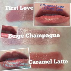 Remember that just 3 LipSense Colours gives you 27 colour options! Here is just a taste of the possibilities! Turns out I can wear warm based colours...who knew! #lips #lipstick #lipsense #swatching