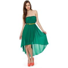 high-low-strapless-dress - Google Search