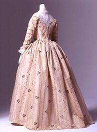 Silk Brocade Open Robe, British 1780s | Threading Through Time