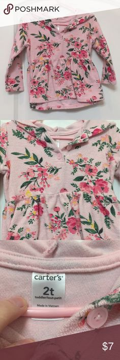 Carter's Floral Sweater Good used condition. Bundle and save more! Carter's Shirts & Tops Sweaters