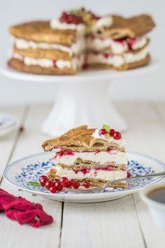 #karpatka #tort orkiszowy z porzeczkami #delektujemy #cake