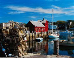 Harbor Along Rockport, Massachusetts