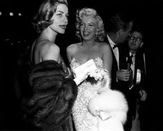 Marilyn Monroe & Lauren Bacall Premiere of How to Marry a Millionaire 1953.