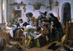 Beware of Luxury Artist: Jan Steen Dimensions: x Location: Kunsthistorisches Museum Wien Created: 1663 Medium: Oil paint Periods: Baroque, Dutch Golden Age Canvas Art Prints, Oil On Canvas, Kunsthistorisches Museum Wien, La Haye, World Famous Artists, Dutch Golden Age, Baroque Art, Baroque Painting, Painting Art