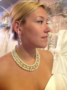 Model brides...beautiful necklace  by.. www.ipombridal.com #Pin By:Pinterest++ for iPad#