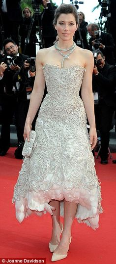Jessica Biel in Marchesa | 2013 Cannes Film Festival