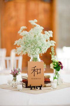 oriental inspired wedding reception table centrepiece - brides of adelaide