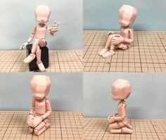 Poseable Figure Free Papercraft Download - http://www.papercraftsquare.com/poseable-figure-free-papercraft-download.html#Figure, #Poseable