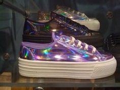 Holographic sneakers. These are gorgeous