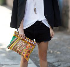 simone camille embellished clutch
