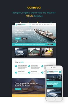 Canava - Logistics and Business HTML Template • Download theme ➝…