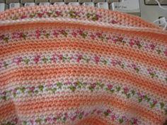 Crochet baby blanket using Bernat Jacquard yarn