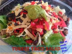 Turkey Taco Salad -- can be made dairy free and/or gluten free #dairyfree #glutenfree   The Mama Maven Blog