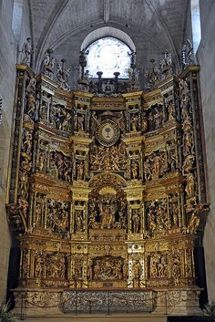 The altarpiece by Damien Forment, 1537 in the Catedral de Santo Domingo de La Calzada