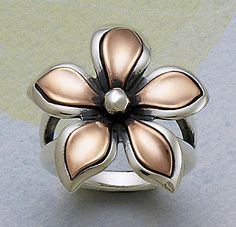 Silver & Copper Petal Ring from James Avery Jewelry #jamesavery