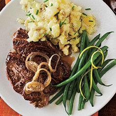Dinner Tonight: Beef and Lamb | White Wine-Marinated Steak | CookingLight.com