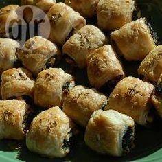 Photo recette : Mini feuilletés aux épinards et à la féta