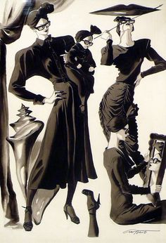 El Picasso de la ilustración de moda: Antonio López | Verlanga. Ilustración para Norma Kamali