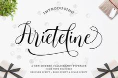Ariteline Script (Font) by Zane Studio · Creative Fabrica Handwritten Fonts, Calligraphy Fonts, Script Fonts, Typography Fonts, All Fonts, Hand Lettering, Microsoft Word 2010, Book Letters, Beautiful Calligraphy