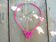 DIY Knotted Necklace: How To Tie A Celtic Triangle