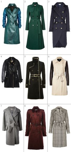 Trench coats for Fall 2013