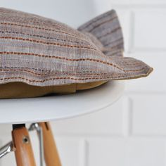 Striped Linen Pillow Decorative Pillow Throw by LoveJoyCreate,
