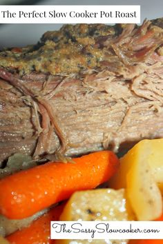 You have to try this delicious Slow Cooker Pot Roast Recipe. So easy and delicious, perfect for holiday dinner. Best Slow Cooker, Slow Cooker Recipes, Crockpot Recipes, Trim Healthy Mama Diet, Crock Pot Food, Pot Roast Recipes, Holiday Dinner, Low Carb Diet, Meals