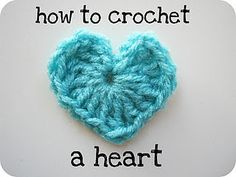 love this...how to crochet a heart