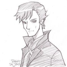 """Robert DeJesus - Google+ :""""Anime style Sherlock."""""""
