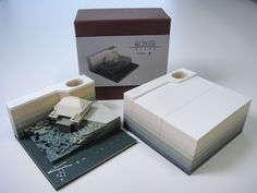 A Paper Memo Pad That Excavates Objects as It Gets Used | Colossal