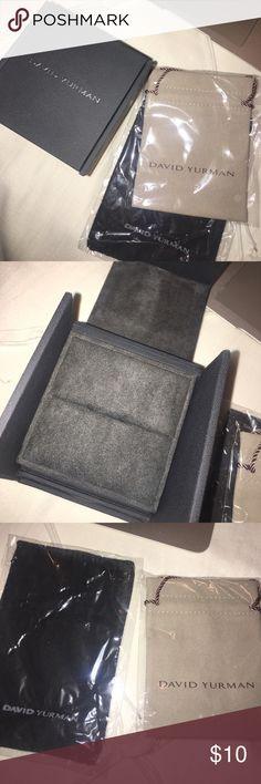 David Yurman ring box and drawstring pouches Ring box David Yurman Jewelry