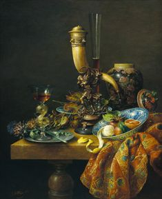 Cornalis Le Maire...Still life with decorative horn
