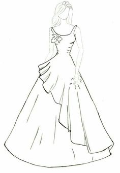 68 Ideas for fashion design drawings dresses Dress Design Drawing, Dress Design Sketches, Fashion Design Sketchbook, Fashion Design Drawings, Dress Drawing, Fashion Sketches, Fashion Model Drawing, Fashion Drawing Dresses, Fashion Illustration Dresses
