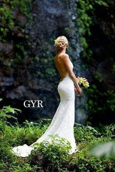 This is pretty much the dress I want (at least the back). Too bad the front is horrendous http://www.katiemay.com