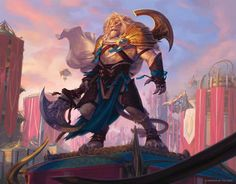 MtG Art: Ajani Unyielding from Aether Revolt Set by Kieran Yanner - Art of Magic: the Gathering Fantasy Races, Fantasy Warrior, Magic The Gathering, Fantasy Creatures, Mythical Creatures, Character Inspiration, Character Art, Jhon Green, Art Magique