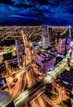 Bogota from above. Visit Colombia, Cali Colombia, City Aesthetic, Travel Aesthetic, Beach Scenery, City Sky, World Cities, South America Travel, Night City