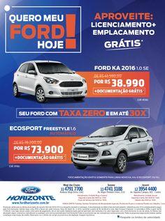 Criação - Varejo. Cliente: Ford Horizonte Ford, Retail, Ford Trucks, Ford Expedition
