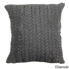 Gianna Quilted 18-inch Silk Decorative Pillow - Overstock™ Shopping - Great Deals on Cottage Home Throw Pillows