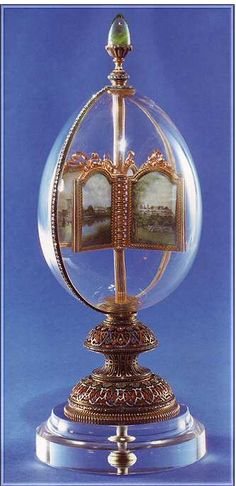 with 12 Miniatures/Rock Crystal Egg: Gift from Nicholas II to wife Alexandra.Egg with 12 Miniatures/Rock Crystal Egg: Gift from Nicholas II to wife Alexandra. Tsar Nicolas, Tsar Nicholas Ii, Czar Nicolau Ii, Fabrege Eggs, La Madone, Crystal Egg, Imperial Russia, Egg Art, Crystals