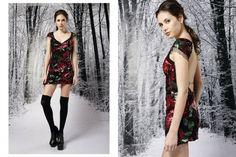 vestido corto bordado con lentejuelas invierno 2015 - Penny Love